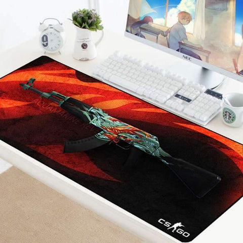 Tapis de Souris Gamer XXL AK 47 Aigue Marine | CrazyWorth