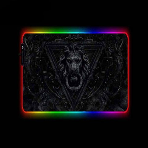 Tapis de Souris RGB XL Lion Noir | CrazyWorth