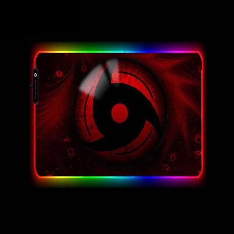 Tapis de Souris RGB XL Mangekyou Sharingan | CrazyWorth