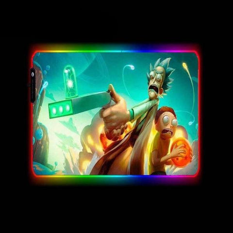 Tapis de Souris RGB XL Rick and Morty Dragon Ball z | CrazyWorth