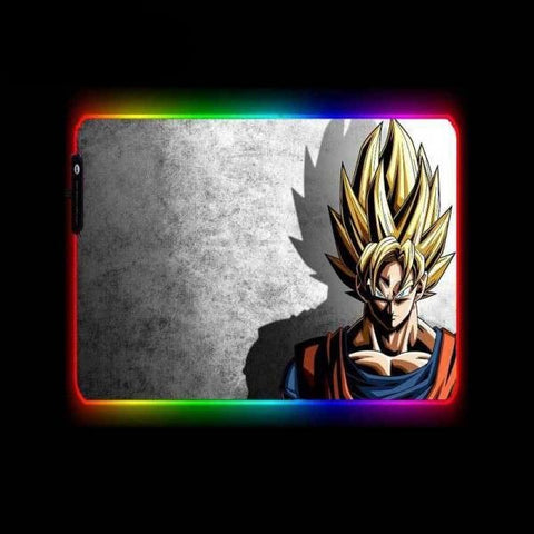 Tapis de Souris RGB XL Sangoku Super Saiyan | CrazyWorth