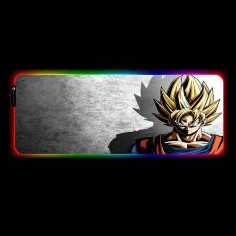 Tapis de Souris RGB XXL Sangoku Super Saiyan | CrazyWorth