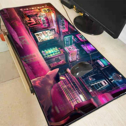Tapis de Souris XXL Nuit Rose | CrazyWorth