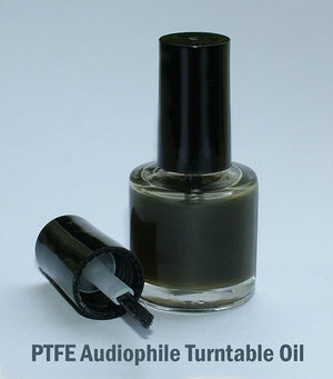Vinyl Clear Audiophile Turntable Bearing Spindle Oil - 10ml Glass Bottle with Brush Applicator.