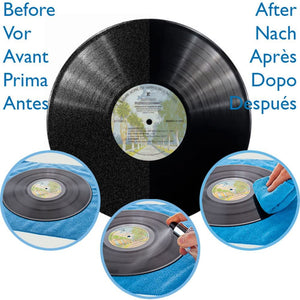 Professional LP Record Cleaner Solution : Antistatic Vinyl Record Restoration & Cleaning Kit (250ml). Enjoy Click Free, Crystal Clear Sound.