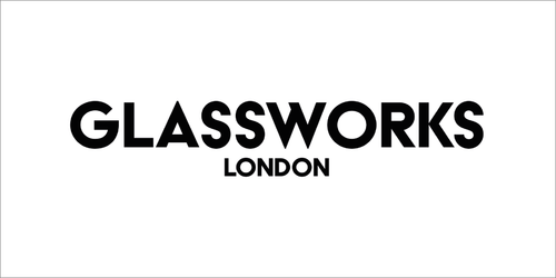 Glassworks London - black on white logo