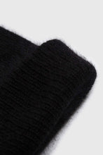 Load image into Gallery viewer, Black mohair beanie hat2