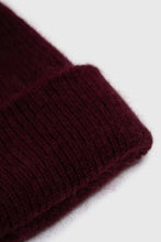 Load image into Gallery viewer, Burgundy mohair beanie hat2