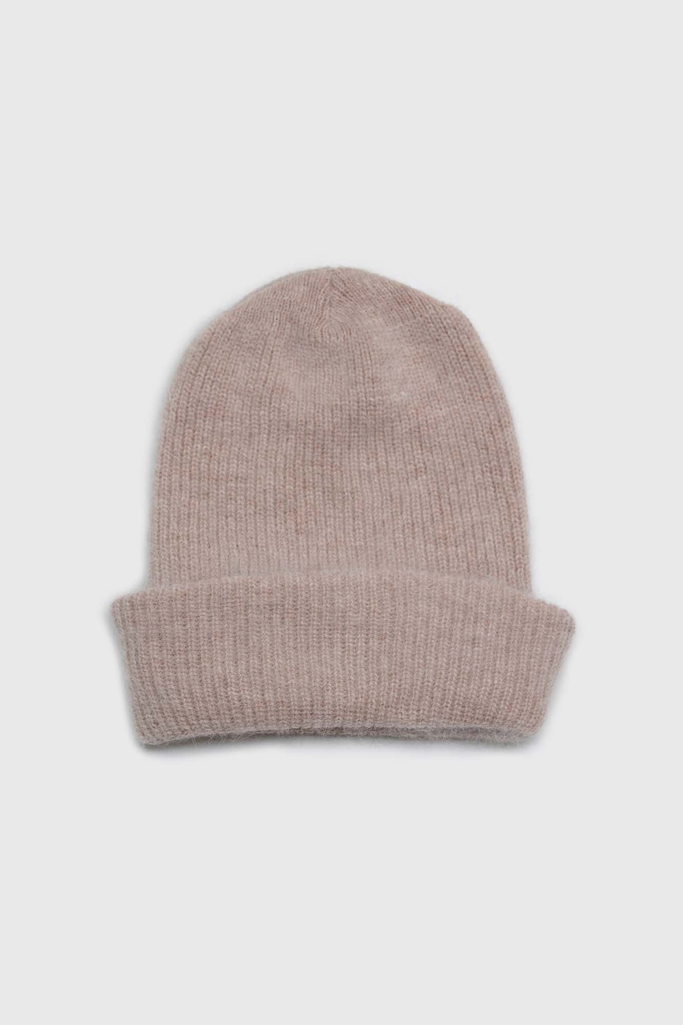 Light beige mohair beanie hat1sx