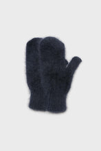 Load image into Gallery viewer, Deep blue mohair mittens1sx