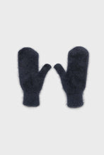 Load image into Gallery viewer, Deep blue mohair mittens2