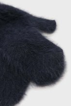 Load image into Gallery viewer, Deep blue mohair mittens4