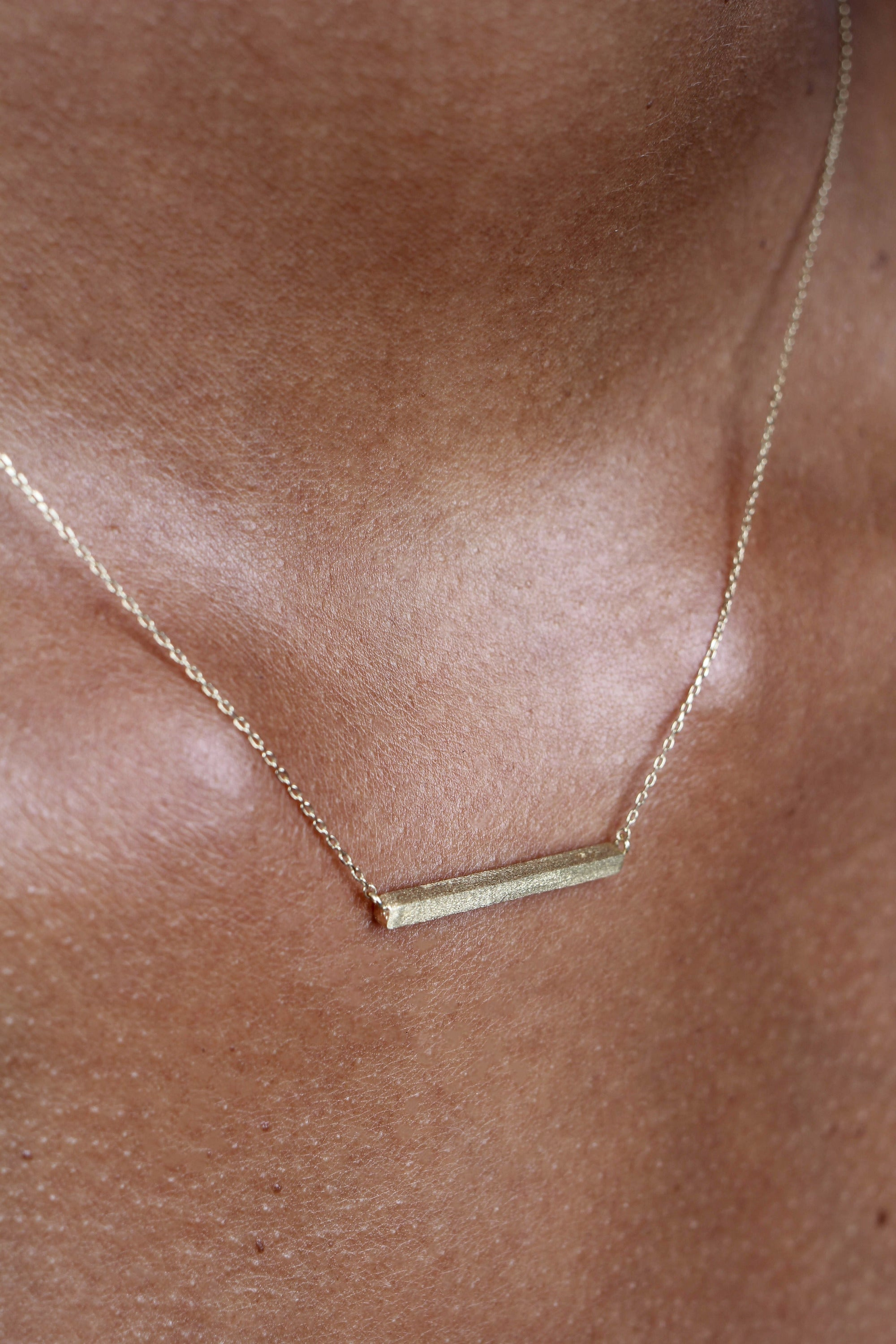 Charm necklace - Gold bar_3