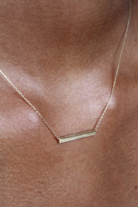 Charm necklace - Gold bar_2