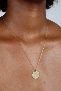 Charm necklace - Gold coin pendant_1