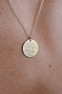Charm necklace - Gold coin pendant_2