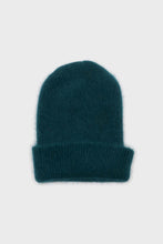Load image into Gallery viewer, Teal mohair beanie hat3