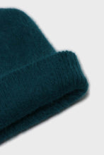 Load image into Gallery viewer, Teal mohair beanie hat4