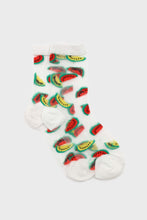 Load image into Gallery viewer, Watermelon sheer socks
