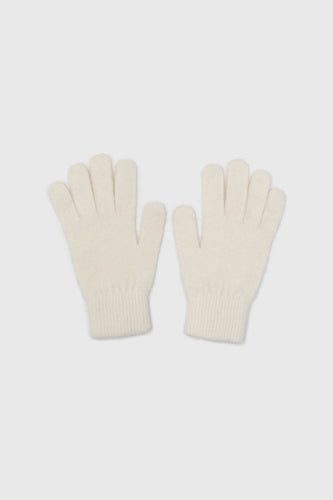 White mohair gloves1