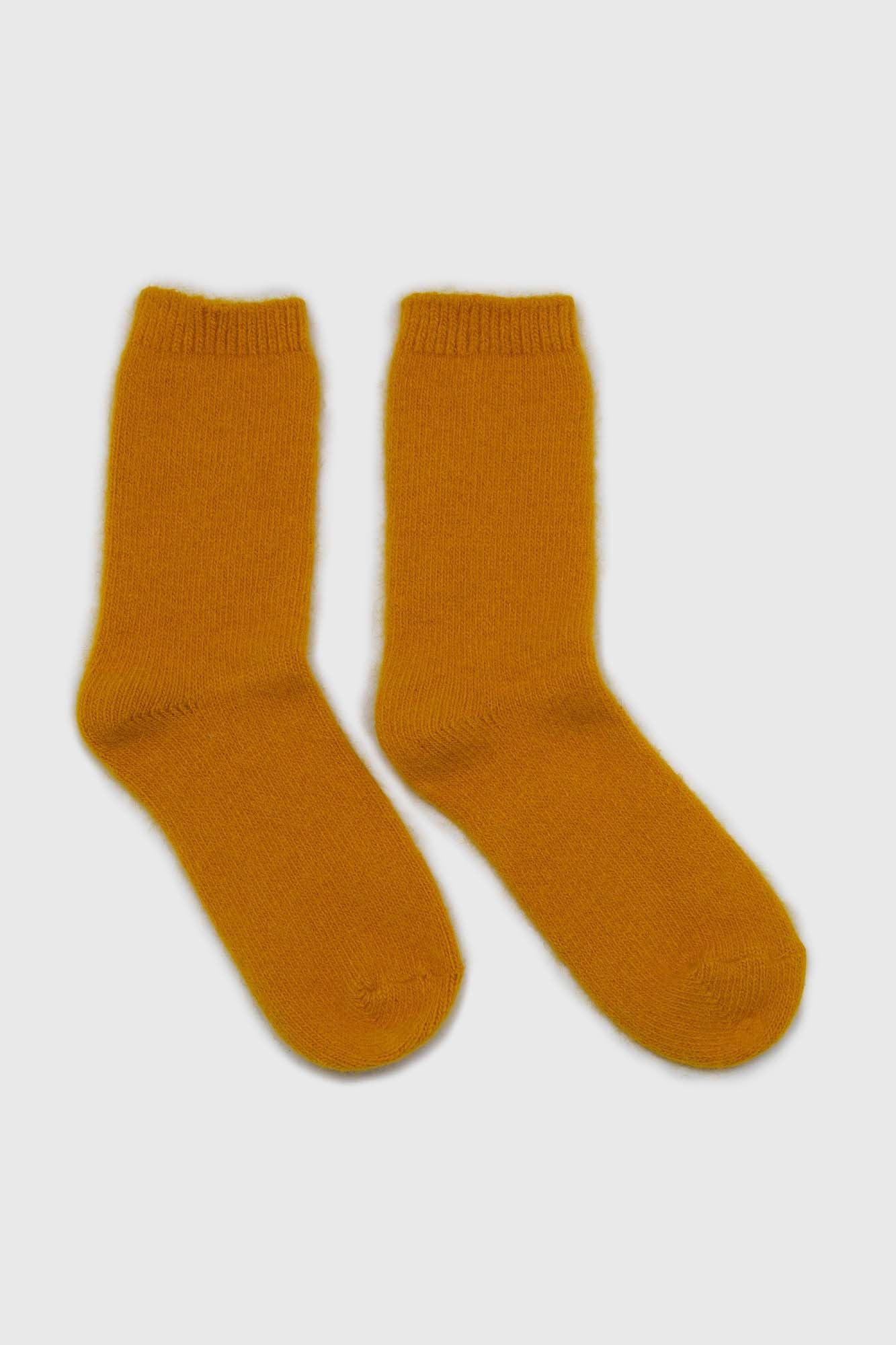Mustard angora smooth socks3