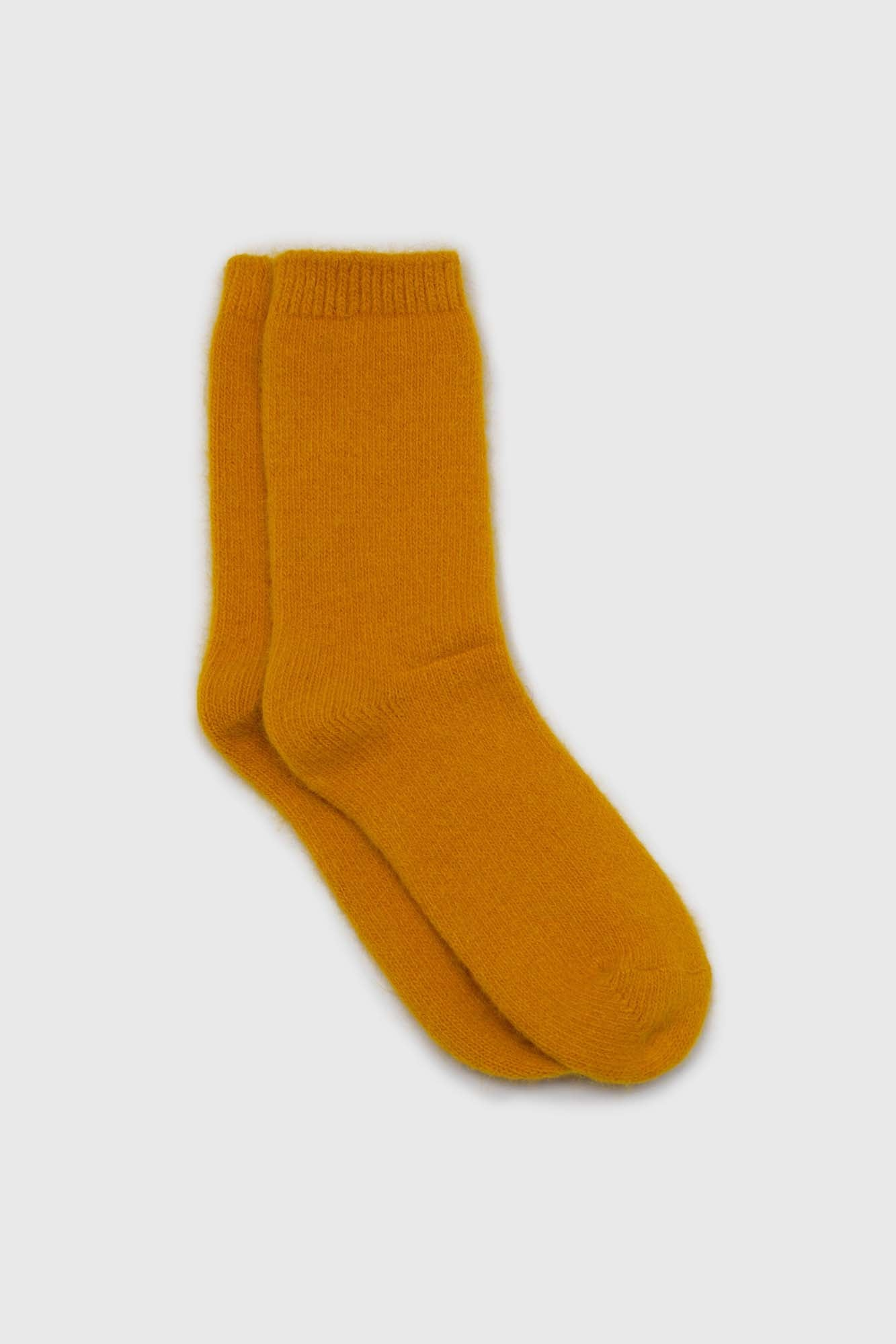 Mustard angora smooth socks1sx