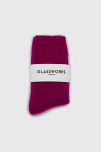 Bright purple angora smooth socks2