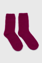 Load image into Gallery viewer, Bright purple angora smooth socks3