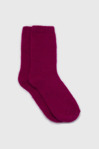 Bright purple angora smooth socks1sx