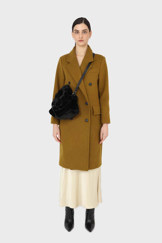 Mustard wool double breasted coat11