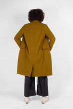 Load image into Gallery viewer, Mustard wool double breasted coat4