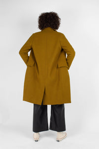 Mustard wool double breasted coat4