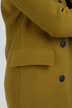 Load image into Gallery viewer, Mustard wool double breasted coat6