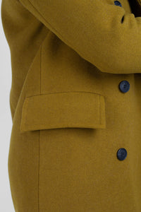 Mustard wool double breasted coat6