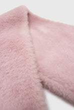 Load image into Gallery viewer, Baby pink soft faux fur tuck scarf2