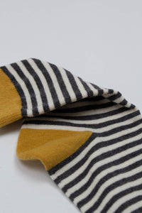 Mustard charcoal and white striped socks_PFDBA1