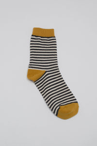Mustard charcoal and white striped socks_PFFBA3