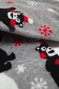 Grey snow slide black bear xmas socks4