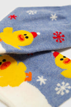 Load image into Gallery viewer, Blue snow slide chick xmas socks4