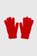 Load image into Gallery viewer, Bright red mohair gloves1