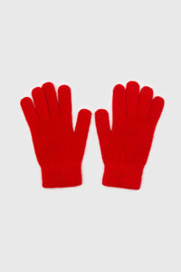 Bright red mohair gloves1