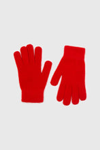 Load image into Gallery viewer, Bright red mohair gloves2