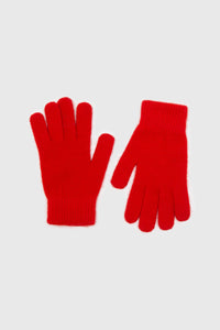 Bright red mohair gloves2