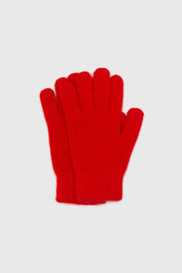 Bright red mohair gloves3