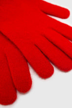 Load image into Gallery viewer, Bright red mohair gloves4