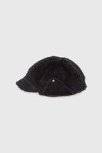 Load image into Gallery viewer, Black teddy pom pom cap3