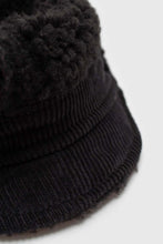 Load image into Gallery viewer, Black teddy pom pom cap4