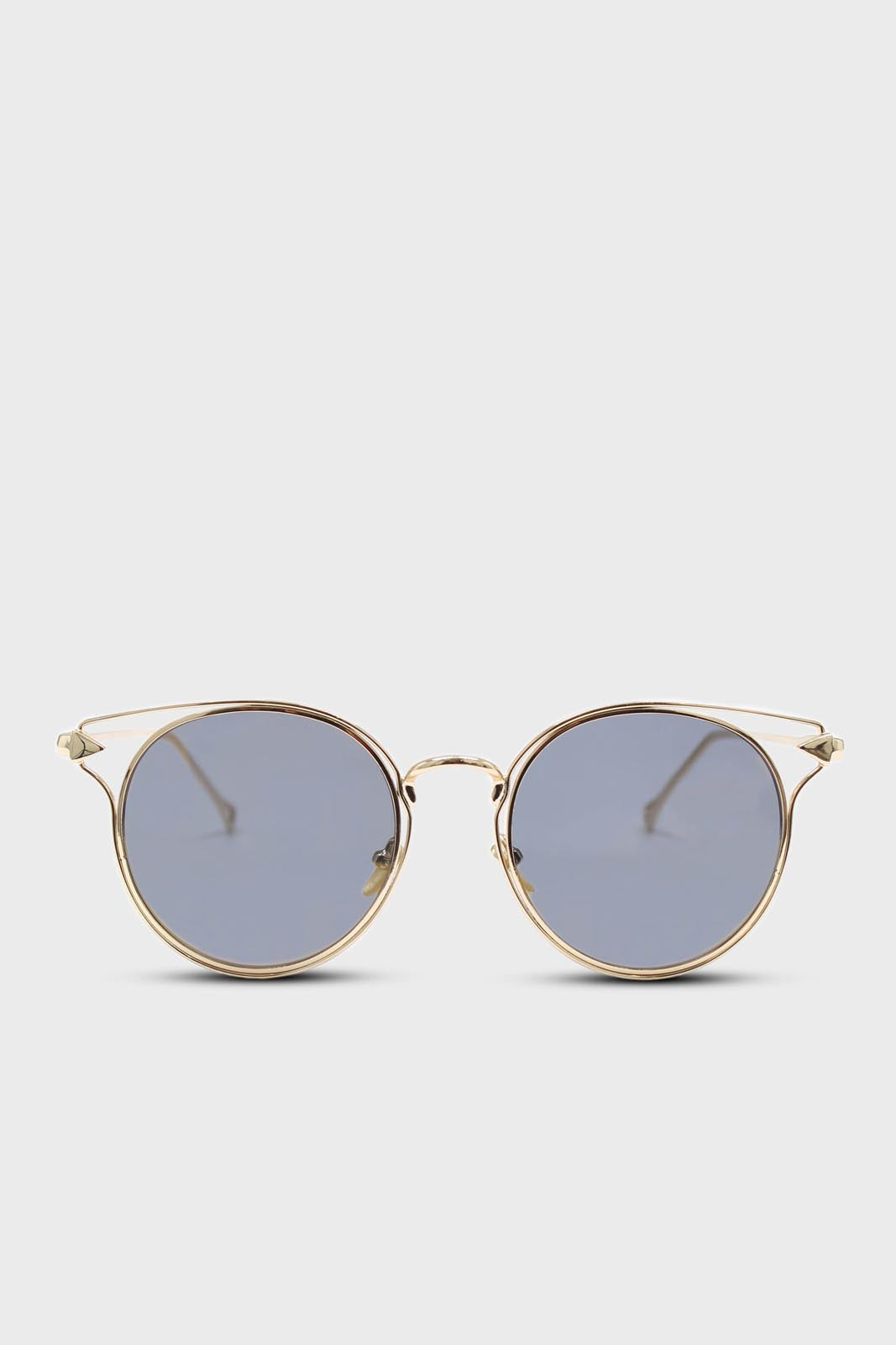 Gold wire rim peek side cateye sunglasses3