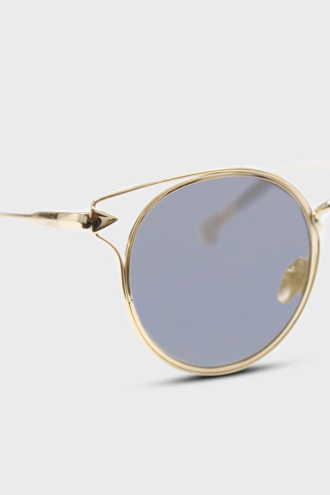 Gold wire rim peek side cateye sunglasses4