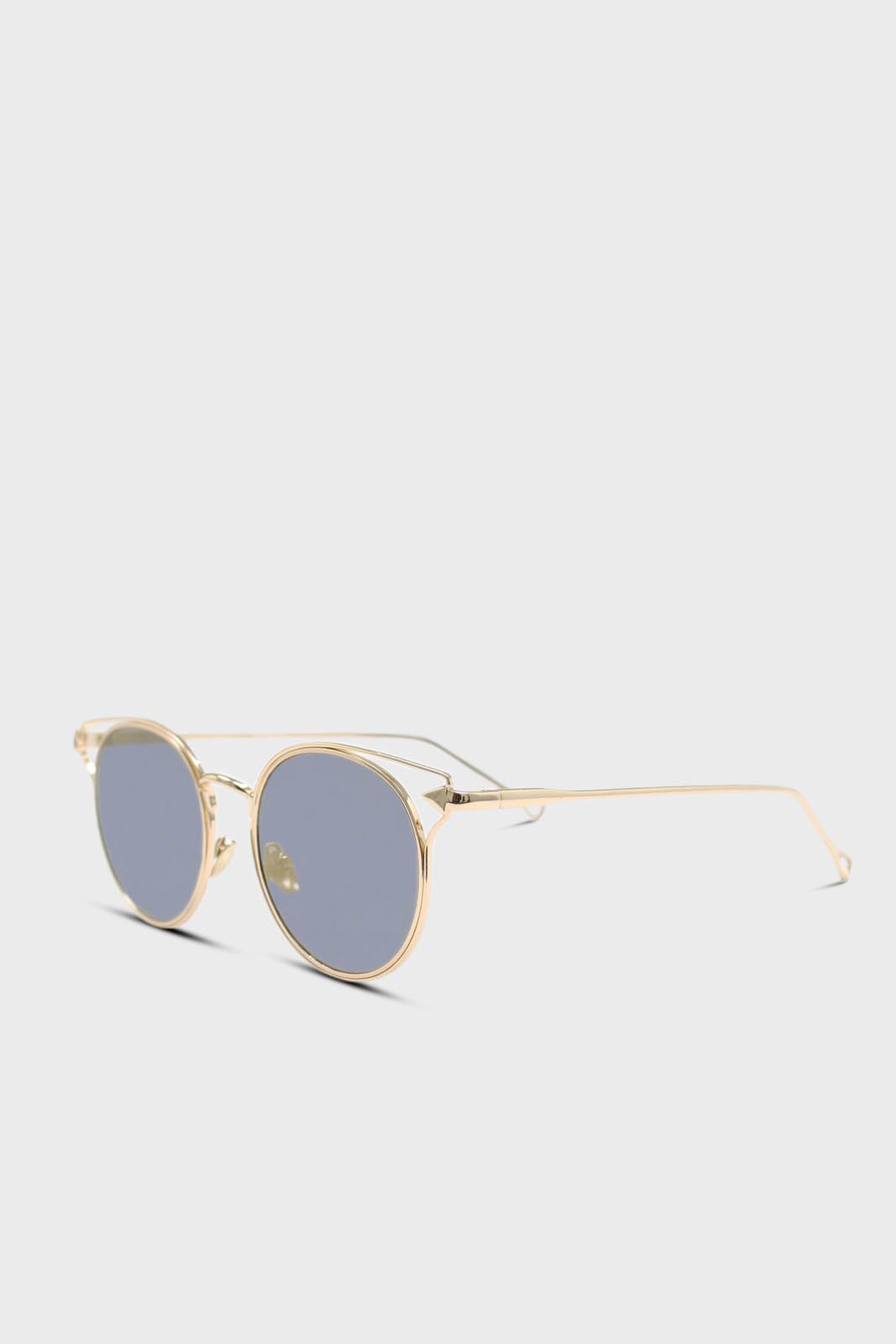 Gold wire rim peek side cateye sunglasses5